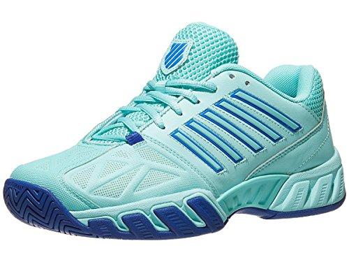 Big Shot Tennis - K-Swiss-Women`s Bigshot Light 3 Tennis Shoes Aruba Blue and Dazzling Blue-(84340