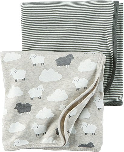 Carter's Babysoft Swaddle Blankets - Grey - 2 ct