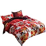 zhENfu 3D Reactive Christmas Gift Bedding Sets 4 Pcs for Queen Size Contain 1 Duvet Cover 1 Bedsheet 2 Pillowcases from China,Queen,Peach