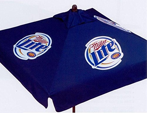 Miller Lite 9 foot BEER PATIO UMBRELLA MARKET STYLE NEW