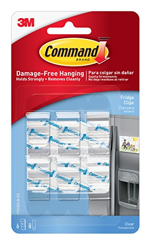 Command Fridge Clips 6 Clips 17210CLR