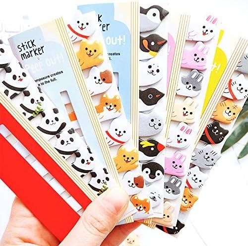 120 páginas Kawaii Animal Sticker Señalador Marcador Etiqueta Notas Adhesivas Post índice de notas