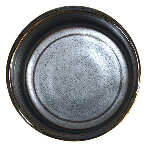 Japanese Handcrafted Matcha Tea Bowl Black, Matcha Tea Cup Ceremony, Authentic Mino Ware Pottery, Kuro Oribe Chawan by Mino Ware (Image #4)