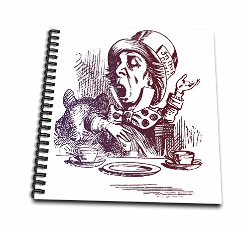 3dRose db_123300_1 Mad Hatter Tea Party Vintage Alicein Wonderland Drawing Book, 8 by 8-Inch