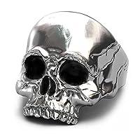 EVBEA University Rings for Men Gothic Jewelry Big Statement Skull Mens Rings