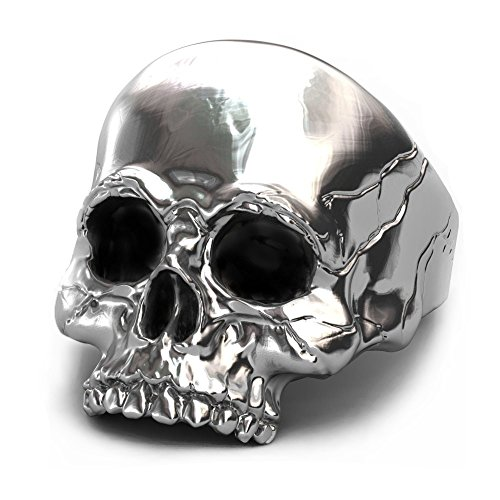 Biker Rings for Men EVBEA Big Cool Motorcycle Skull Mens Pinky Ring (7)