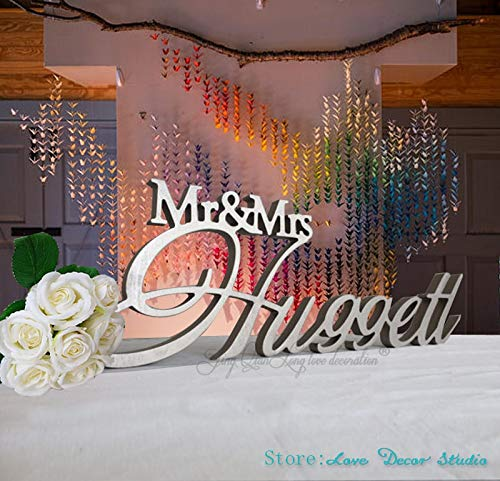 Party DIY Decorations|Custom Mr & Mrs Last Name Wedding Table Sign Big Centerpiece Decoration Personalized Sign Custom Sign Wedding Sign Family Name|by ATUKI
