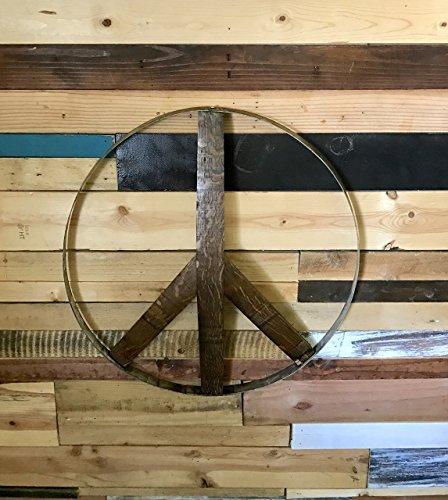 Rustic Wine Barrel Peace Sign