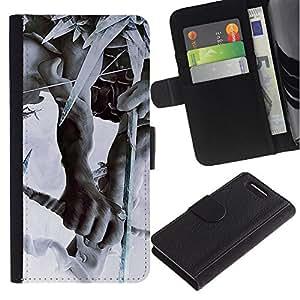 JackGot ( Linkin Park la partita di caccia ) Sony Xperia Z3 Compact / Z3 Mini (Not Z3) la tarjeta de Crédito Slots PU Funda de cuero Monedero caso cubierta de piel