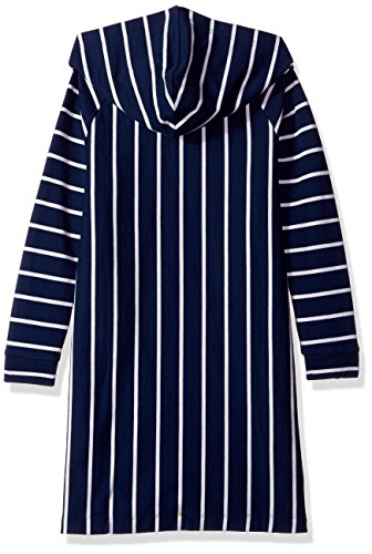 Dress Sweatshirt Tommy Hooded Sleeve Girls Long Navy Dress Hilfiger Casual Medium wCPPnqx8At