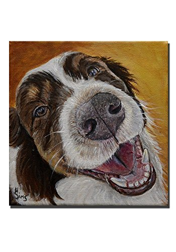 Australian Shepherd Unique Up Close Dog Art Print Giclee for your Animal Wall Decor, size mat - Close Up Gallery