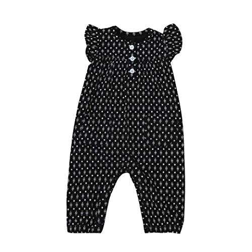 One Playsuit (Baby Clothes Set, Toddler Infant Kids Baby Girl Print Clothes Casual O-Neck Short Sleeve Romper Playsuit Jumpsuit 1 T)