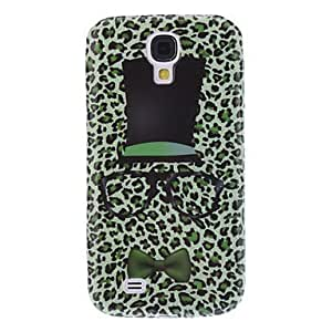 Lovely Design Hat, Glasses and Tie Pattern Soft Case for Samsung Galaxy S4 I9500