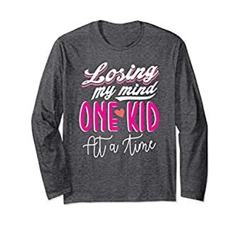 Unisex Losing My Mind One Kid At A Time Mothers Long Sleeve Small Dark Heather