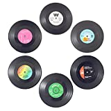 Description: To protect your table with the silicone made vinyl record coasters and enjoy your drink and relax.