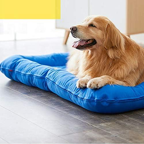 [ENDURING]:ペットベッド ペットソファ 洗える 通気性が良い 柔らかい 暖かい 四季のユニバーサルソファベッド ストライプ スクエア型 キャンバス 猫用ベッド 犬用ベッド ペット用品 ブルー+取り替え XL