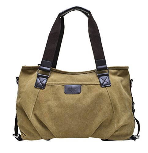Style Khaki Single Leather Totes TM Canvas Shoulder European GOLD Crossbody PU Hobo KISS px7qPwUUB
