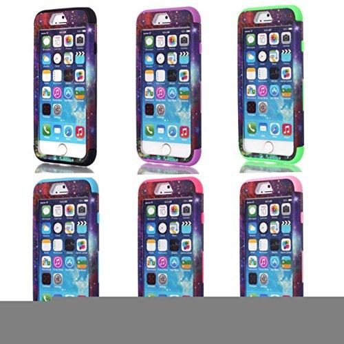 iPhone 6s hülle, iPhone 6 hülle, Lantier Hybrid Heavy Duty Rugged Hard Case mit harter PC + Innen Silikon Shell Shockproof Abdeckung für Apple iPhone 6 / 6S 4,7 Zoll (Dream Catcher Pattern / Schwarz)