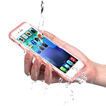 iPhone 6/6s Waterproof Case, KOOCO Waterproof Shockproof Dustproof Touched ID Fingerprint Full Sealed Protection Cover for iPhone 6/6S 4.7''(iPhone6/6s, rose)