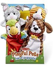 Melissa & Doug Playful Pets Hand Puppets Pretend Play