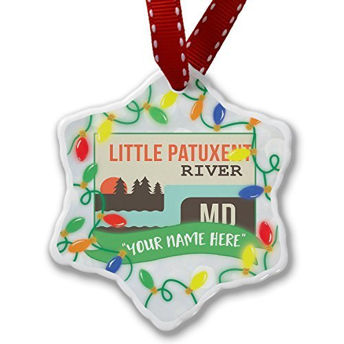 Valentine Herty Personalize Ornament Your Name Usa Rivers Little Patuxent River - Patuxent Little