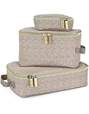 Itzy Ritzy Packing Cubes - Set of 3, Taupe
