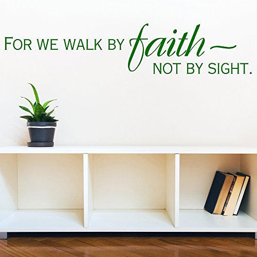 Cheap  azutura For We Walk By Faith Wall Sticker Bible Verse Wall Decal..