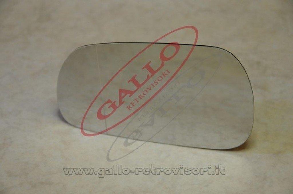 Specchio Retrovisore specchietto esterno Curvo Destro Solo Vetro con Biadesivo Cromato