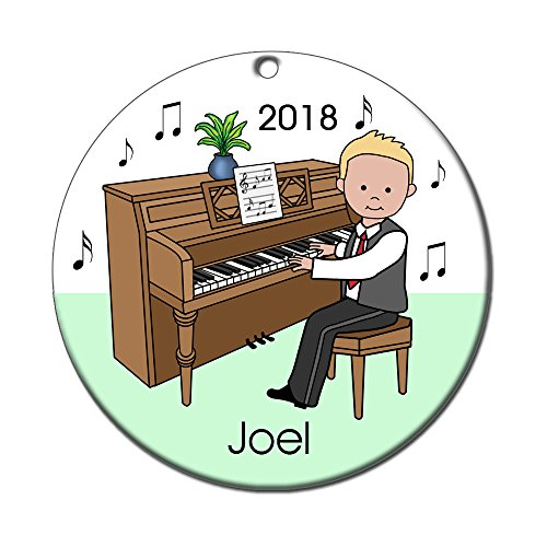 Piano Recital Personalized Ornament - Blonde Haired Boy ()