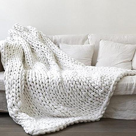 White Super Chunky Knit Blanket Merino Wool Blanket Handmade Throw Extreme Knitting Chunky Blanket Super Bulky Throw Chunky Thick Yarn Blanket