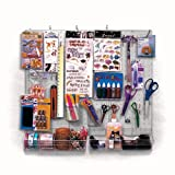Craft Center and Scrapbook Organizer (Clear Frosted Pegboard)
