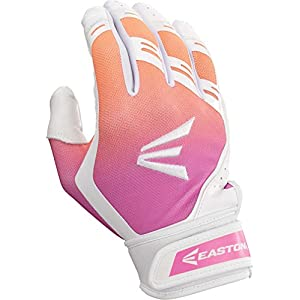 Easton HF7 Fastpitch Batting Glove WH/Pk/or M