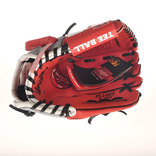 Rawlings Baseball Glove RED Pro 10 inches Professional Tee Ball Pitcher Hand Playmaker Gamer Series Leather Pocket Mitt Red Infield Right Hand Throw Catchers (Design Series Catchers Mitt)