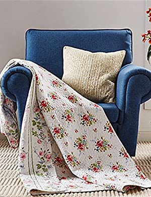 H&C 1PC Quilt Full Cotton Euro Floral Pattern 57