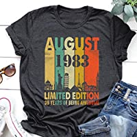 Birthday August Shirt Vintage 1983 Limited Edition 36 Years Of Being Awesome T Shirt Hoodie