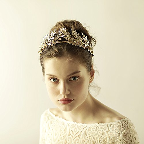 Greek / Roman Gold Leaf Crown Headpiece – Bridal Wedding Headband