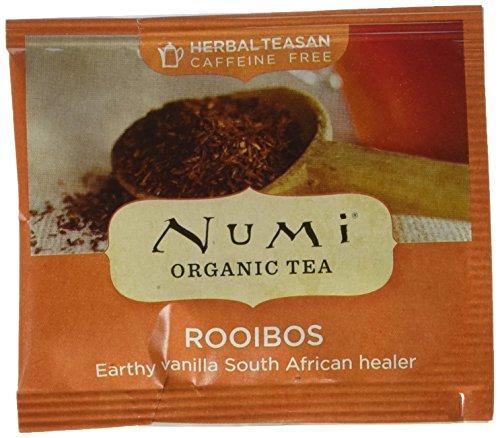 Rooibos Tea Bags - Numi Organic Tea Rooibos, 100 Count Box of Tea Bags, Bulk Non-GMO Biodegradable Tea Bags, Organic Rooibos Tea, Caffeine Free Herbal Tea, Premium Organic Non-Caffeinated Rooibos Tisane, Red Tea