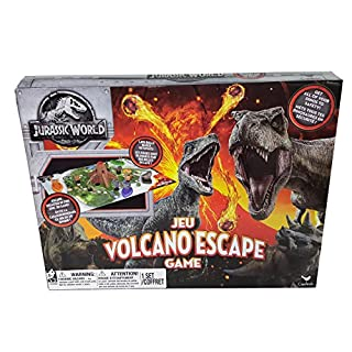 Spin Master Games Cardinal Industries 6044456 Jurassic World Volcano Escape Game, Multicolor