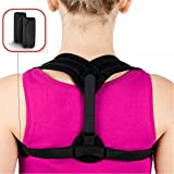 Posture Corrector for Women Men Teens,Shengsite Soft and Comfortable Upper Back/Shoulder/Clavicle Support Adjustable Brace for Posture Prevent Slouching and Hunching