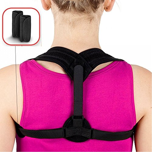 Posture Corrector for Women Men Teens,Shengsite Soft and Comfortable Upper Back/Shoulder/Clavicle Support Adjustable Brace for Posture Prevent Slouching and Hunching by Shengsite