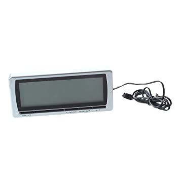 SODIAL(R) Termometro Digital Multifuncion LED Temperatura LCD para Coche