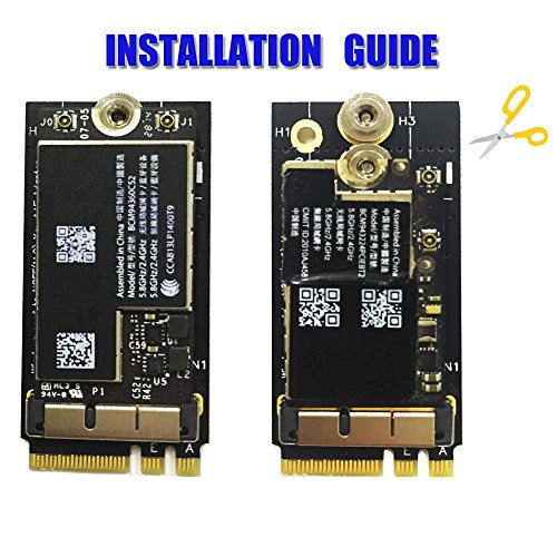 BCM94360CS2/HLT BCM943224PCIEBT2 Card To NGFF(M.2) Key A/E Adapter For Mac OS by HLT (Image #3)