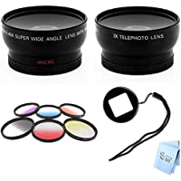 SAVEoN GoPro Hero3 and Hero3+ Wideangle & Telephoto Lens, Color Kit with Lens Filter Adapter