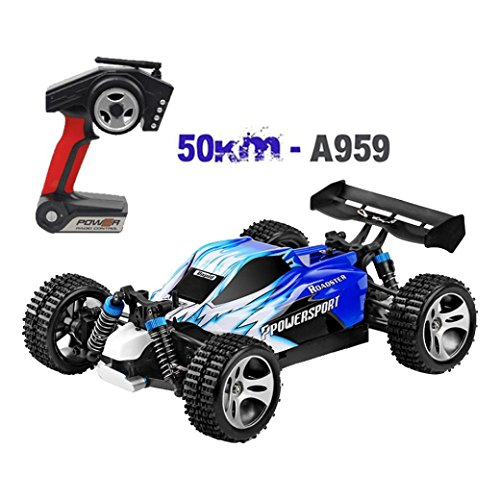 Iusun RC Car, 1:18 4D 2.4G Remote Control Car High Speed 50km/h Wltoys A959 Upgraded 540 Brush Motor Car RC Car Toy for Adults Kids Gift Toys (Best Wltoys For Kids)