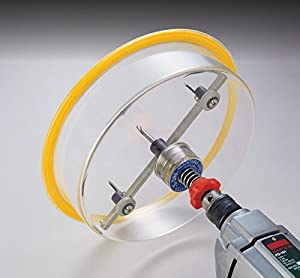 """Hole Pro T-200 1-5/8"""" to 8"""" Adjustable Hole Cutter - Hole Saw for Recessed Lighting Speakers. Twin High Speed Steel HSS Blades use ¼ Drill Power of a Hole Saw to Cut Sheetrock Plastic Soft-woods"""