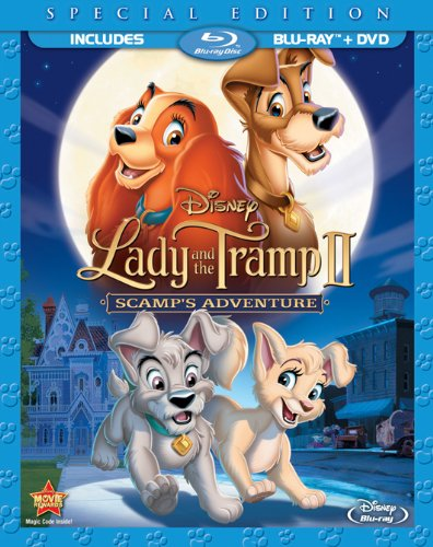 Amazon Com Lady And The Tramp 2 Scamps Adventure Two Disc Blu Ray Dvd Special Edition In Blu Ray Packaging Scott Wolf Alyssa Milano Chazz Palminteri Jeff Bennett Jodi Benson Bill Fagerbakke Mickey Rooney Bronson Pinchot Cathy