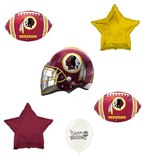 (Washington Redskins Football Balloon Bouquet Bundle)