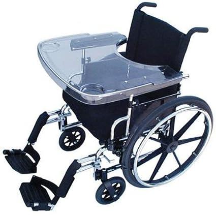 Patterson Medical - Bandeja para silla de ruedas, transparente