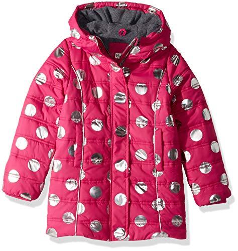 (Hatley Girls' Little Fleece Lined Puffer Coats, Metallic dots, 5)