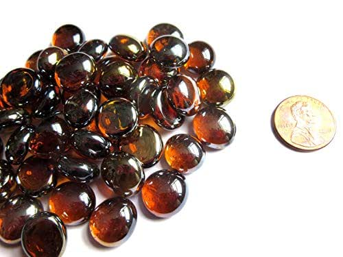 Mosaic Tiles 11-14 mm Flat Back Glass Marbles,Vase Fillers Small 50 Mini Opaque Black Glass Gems